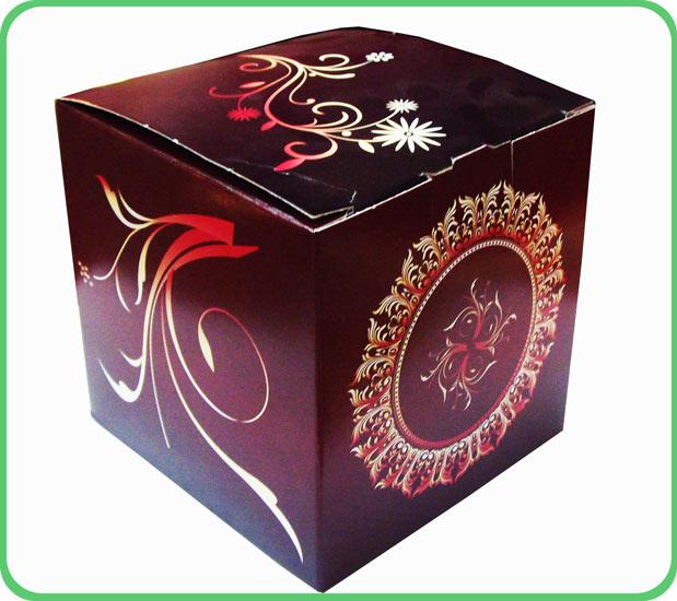 коробка для кружки бордовый винтаж.